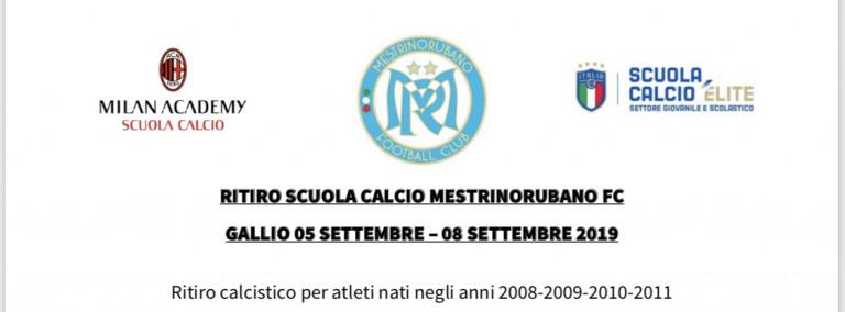 RITIRO SCUOLA CALCIO MESTRINORUBANO FC