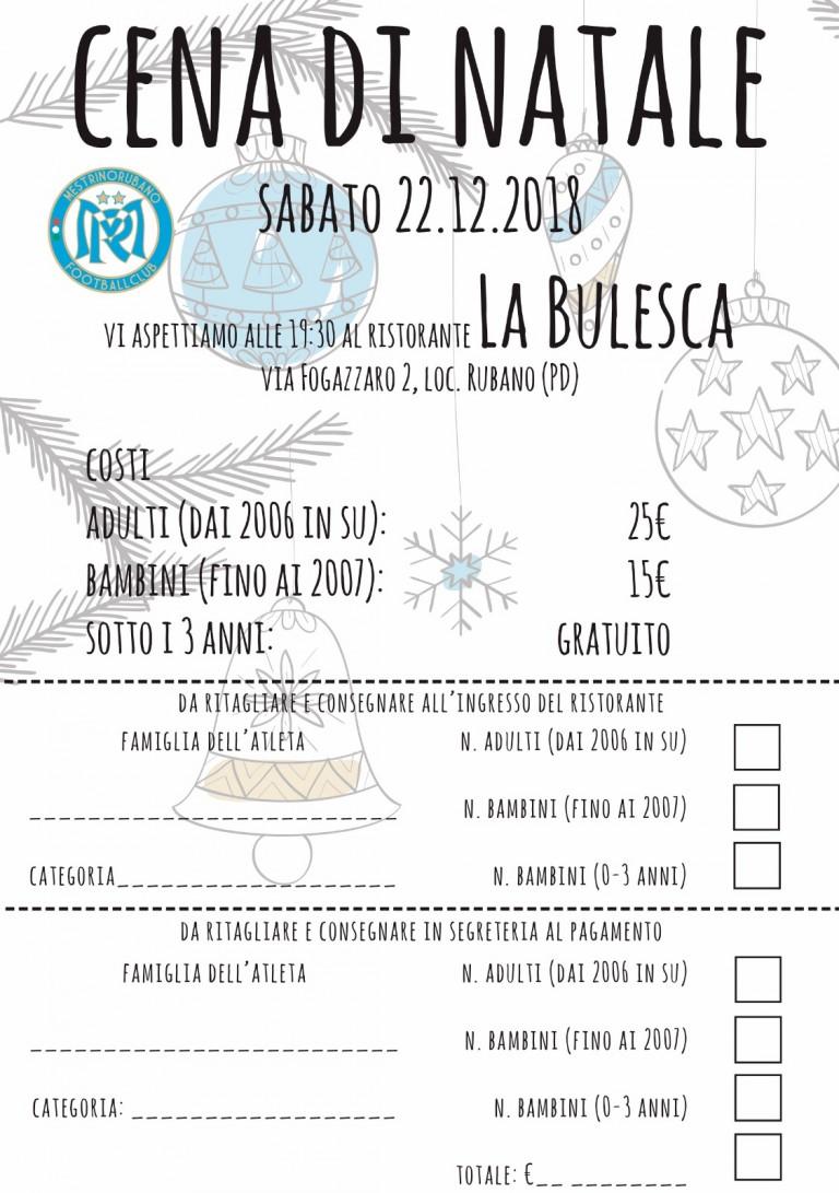 Cena associativa - 22 Dicembre 2018 Ristorante La Bulesca