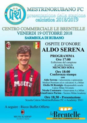 Presentazione stagione calcistica 2018/2019 con Aldo Serena